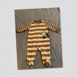 Carter's Baby Boys Fleece overall NWOT